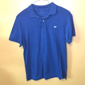 Vineyard Vines Heather Blue Polo Shirt, M